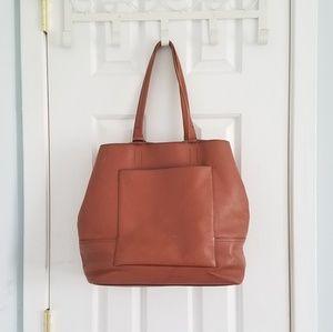 Leather J. Crew Large Bag